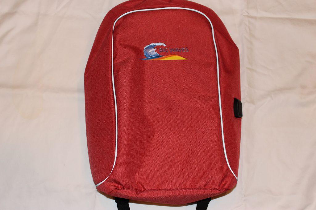 Big Waves Fitness Backpack with USB Port - Orange